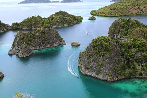 raja ampat isole indonesia