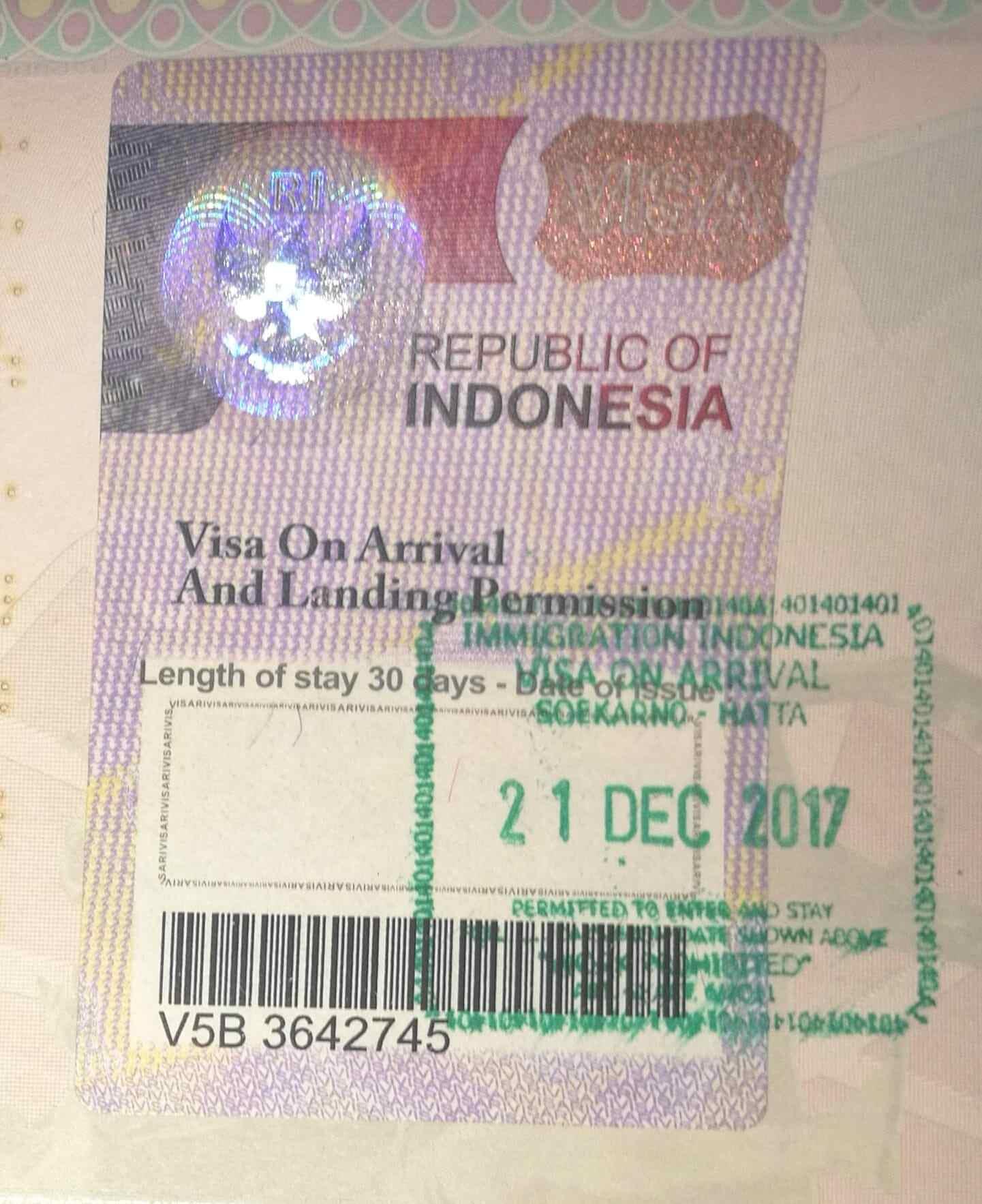 visto turistico indonesia covid