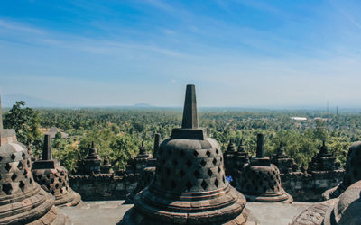 Il maestoso tempio buddhista Borobudur