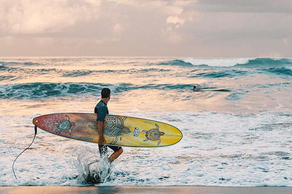 surfare a Lombok